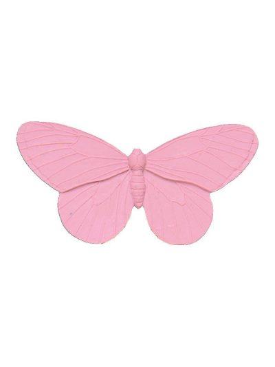 Broche de flamenca mariposa de resina color rosa palo