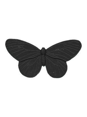 Broche de flamenca mariposa de resina negra