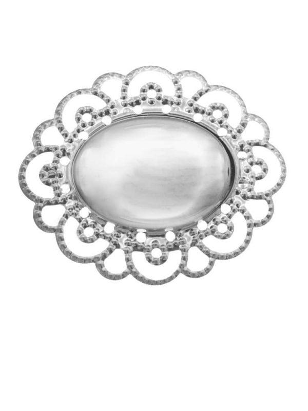 Broche de flamenca plateado