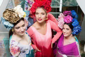 Modelos editorial moda flamenca