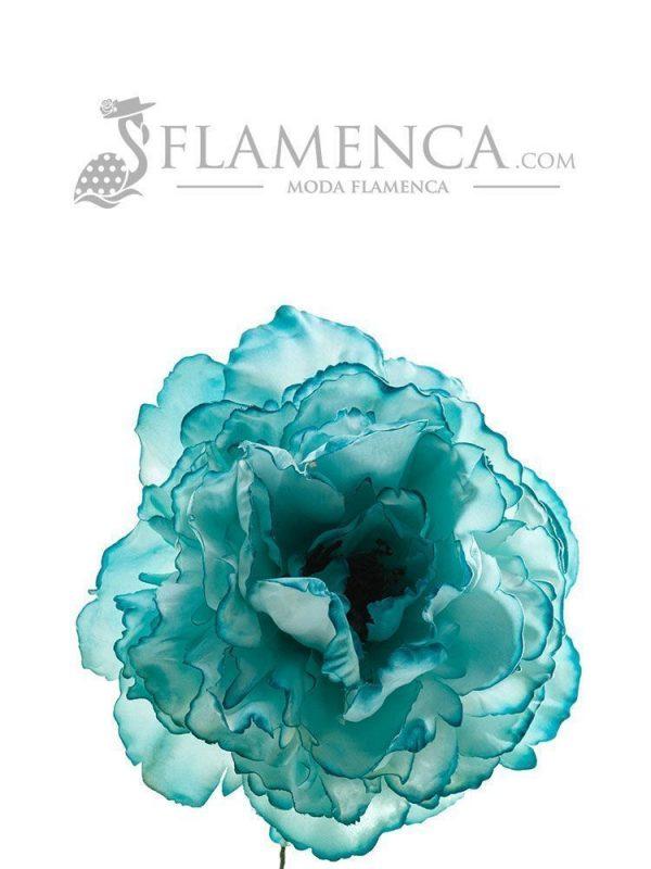 FLOR DE FLAMENCA AGUA MARINA