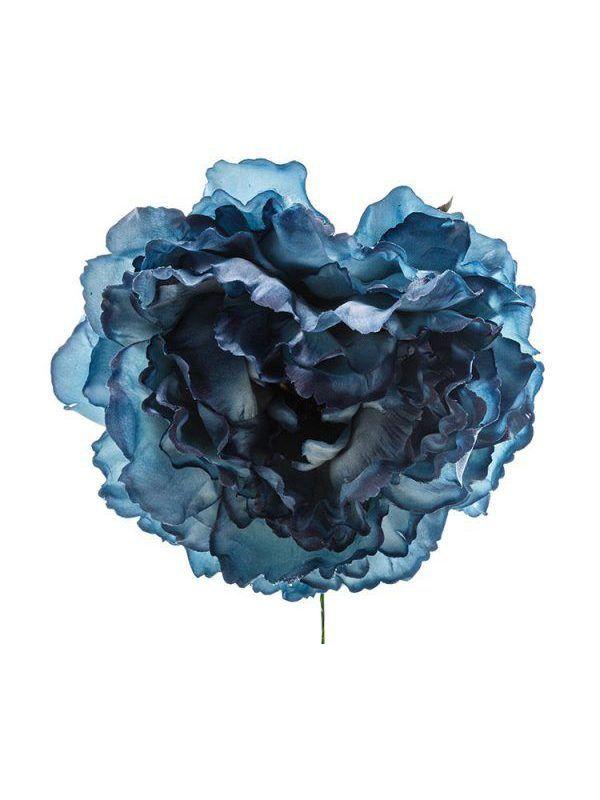 Flor de flamenca azul zafiro