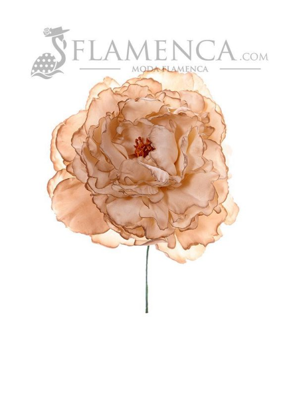 Flamenco flower in beige