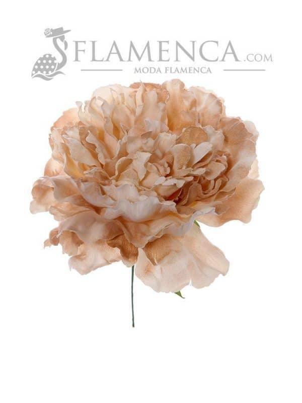 Flamenco flower in beige