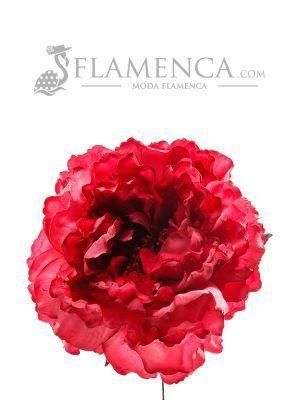 FLOR DE FLAMENCA CARMÍN