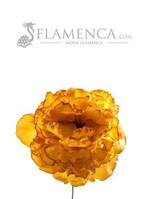 FLOR DE FLAMENCA MOSTAZA