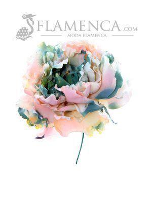 Flor de flamenca multicolor