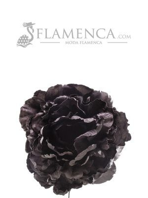 Black flamenco flower