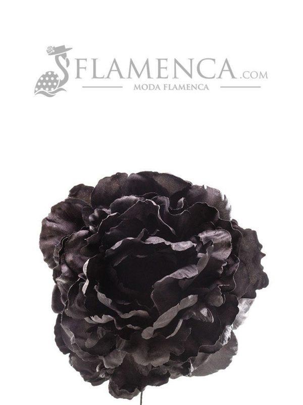 Black flamenco flower