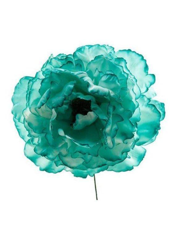 Flor de flamenca verde agua