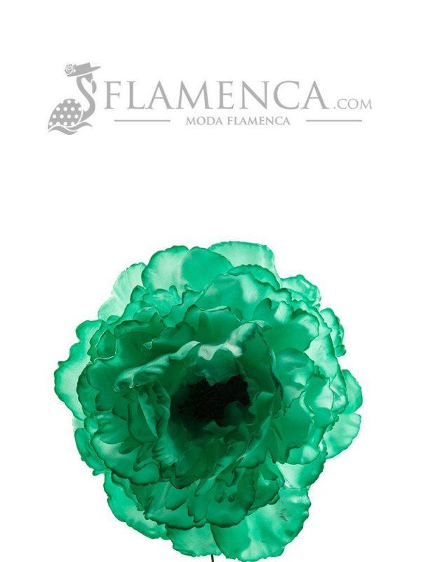 Andalusian green flamenco flower