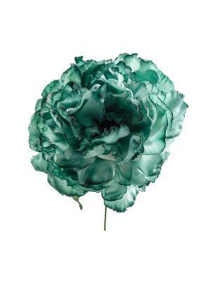 Flor de flamenca verde botella