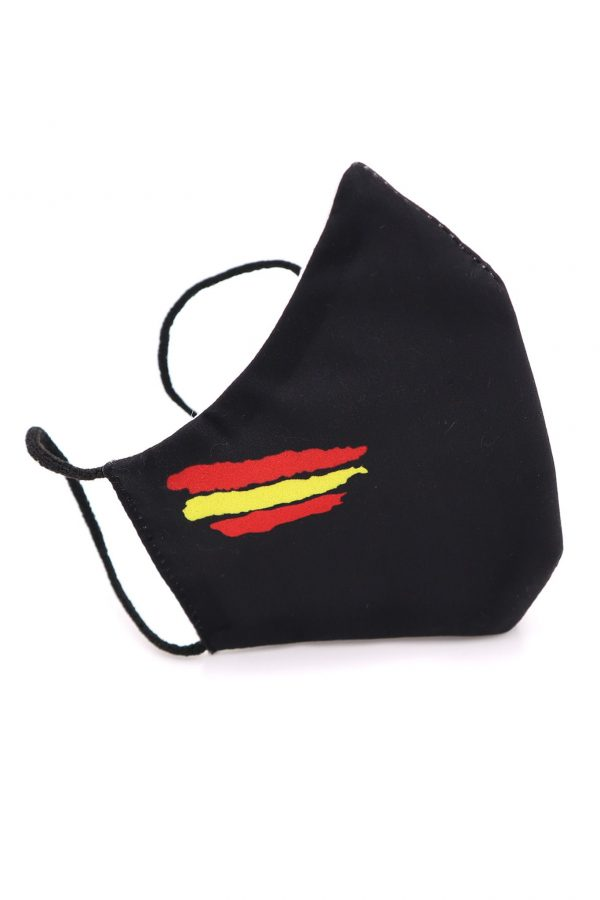 Mascarilla bandera de España negra