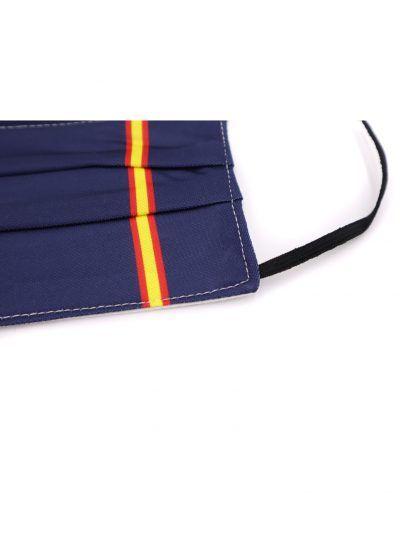 Mascarilla de tela azul bandera de España