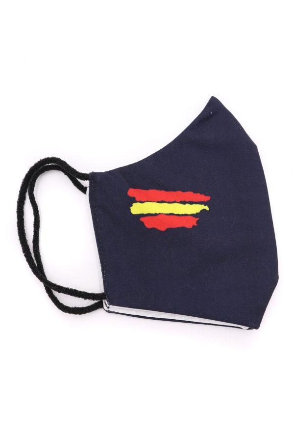 Mascarilla bandera de España azul marino