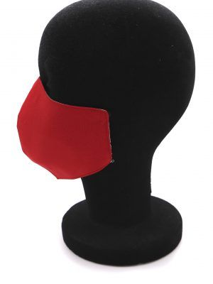 Mascarilla de tela reutilizable color rojo