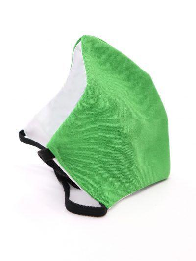 Mascarilla de tela reutilizable verde