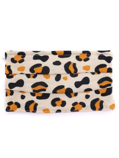 Mascarilla estampado de leopardo