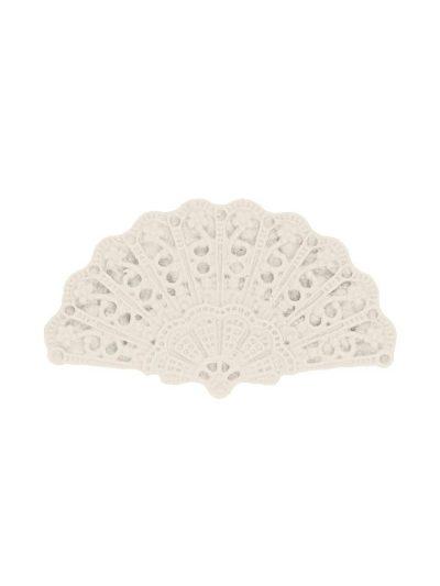 Broche de flamenca abanico de resina color marfil
