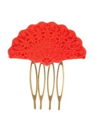 Flamenca comb in red resin fan