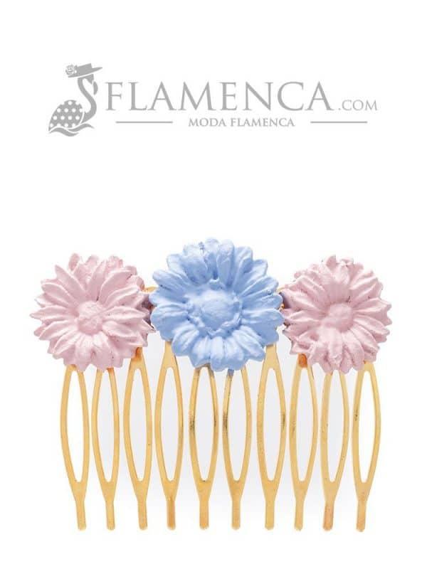 Peinecillo de flamenca de porcelana ducado y maquillaje