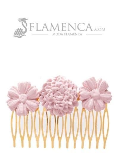 Peinecillo de flamenca de porcelana maquillaje