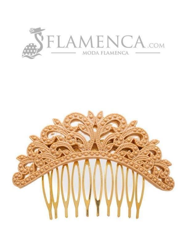 Peinecillo de flamenca de resina camel