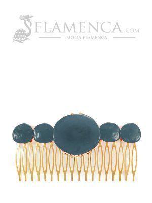 Peinecillo de flamenca de resina cristal ducado