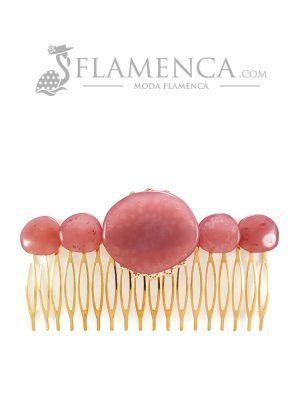 Peinecillo de flamenca de resina cristal maquillaje