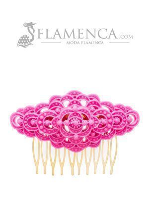Fuchsia resin flamenco comb