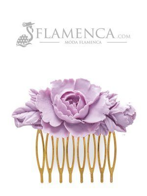 Flamenca resin mauve comb