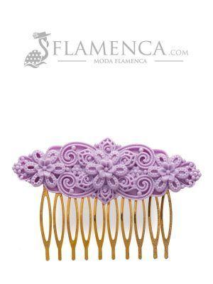 Flamenco resin mauve comb