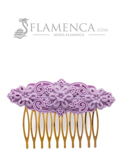 Flamenco resin mauve comb