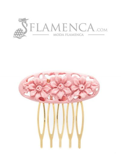 Peinecillo de flamenca de resina maquillaje