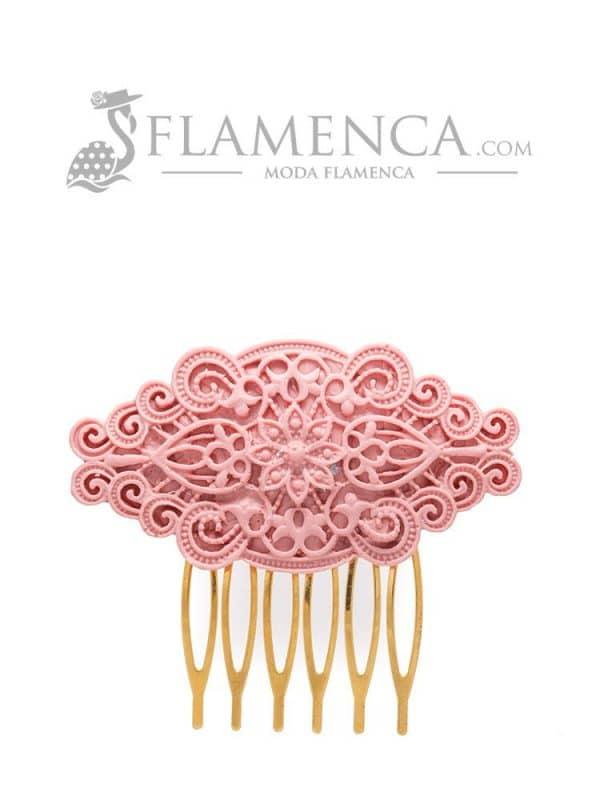 Peinecillo de flamenca de resina maquillaje claro