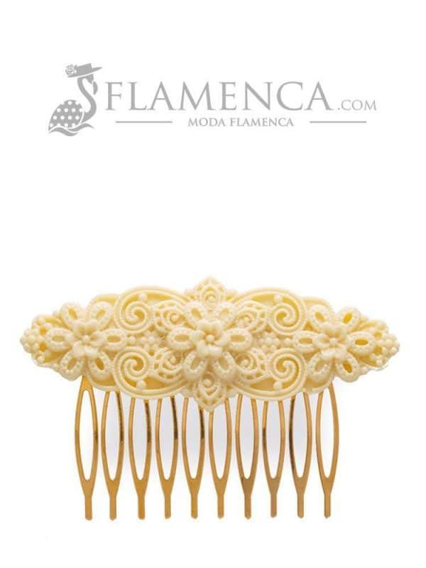 Ivory resin flamenco comb
