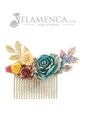 Multicolor resin flamenco little comb