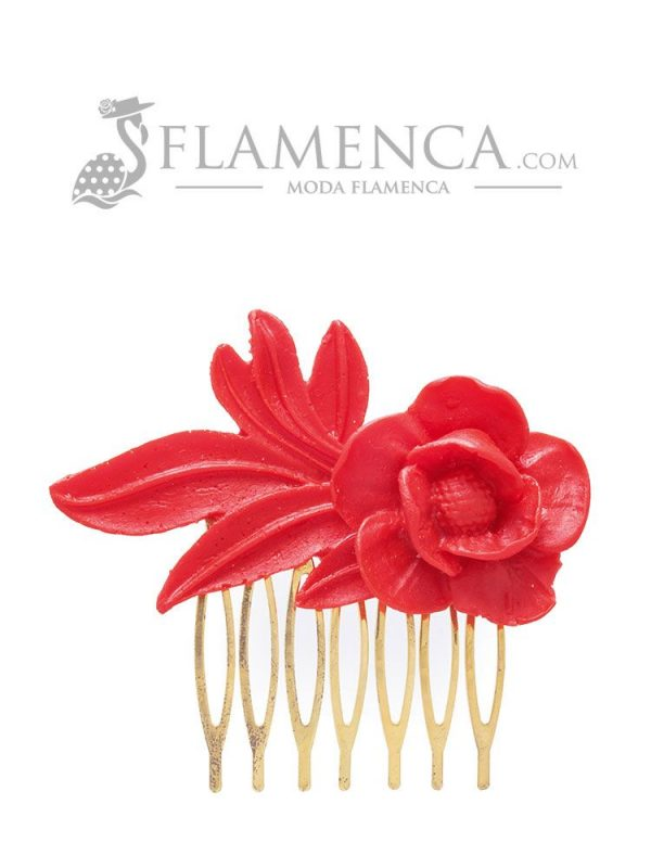 Flamenca red resin comb