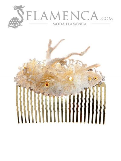 Flamenco ivory comb with gold highlights