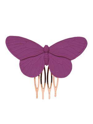 Peinecillo de flamenca mariposa de resina buganvilla