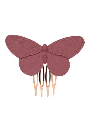 Flamingo resin butterfly comb in red