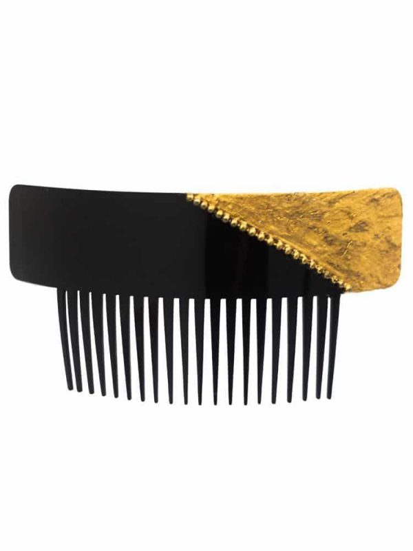 Black and gold flamenco comb