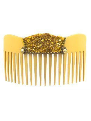 Flamenco nacre wave comb in gold