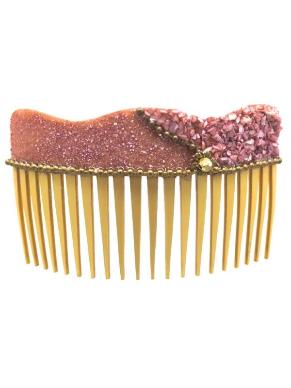 Flamenco nacre wave comb in makeup tone