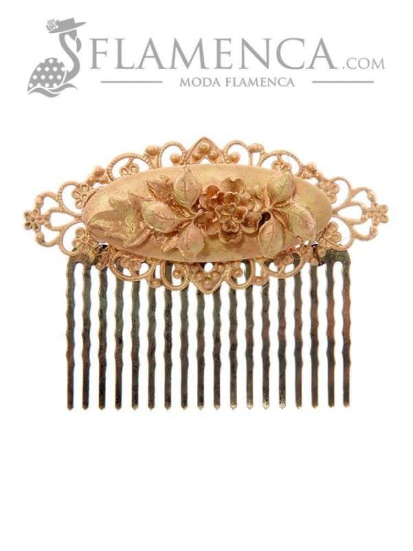 Golden flamenco little comb