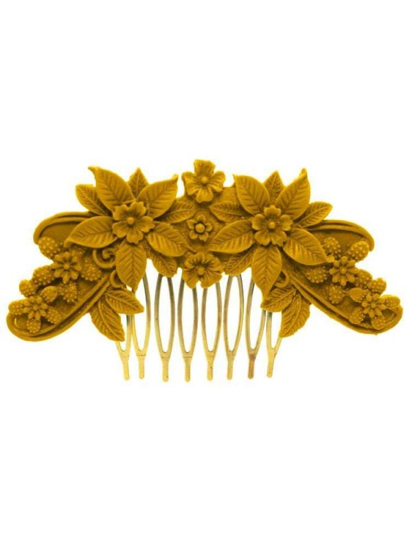 Flemish comb resin floral color albero