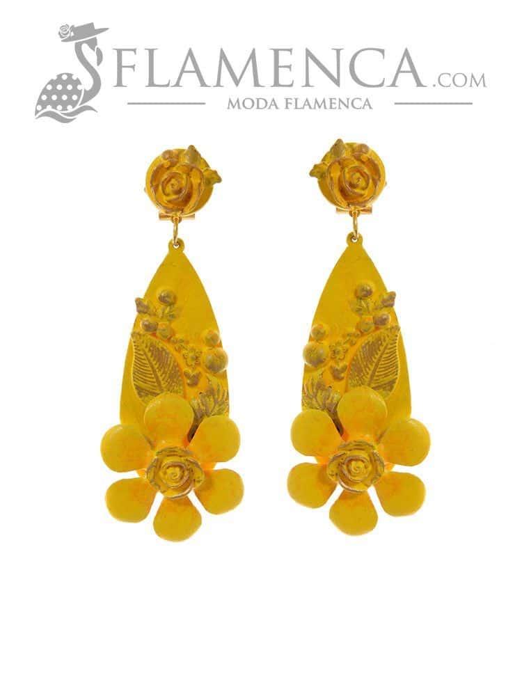 3ced1a9e4 Pendiente de flamenca amarillo | Flamenca - Moda flamenca