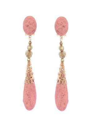 Flamenco earrings cameo tone makeup with gold highlights