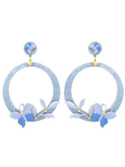 Celestial flamenco earring with butterfly