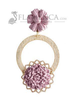 Pendiente de flamenca de porcelana maquillaje